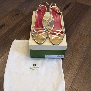 Kate Spade Emily Gold Strappy Sandal
